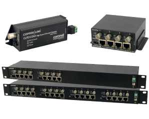 Ethernet-over-Coax Extender with Pass-Through PoE