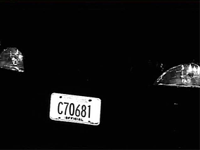High Contrast License Plate Capture