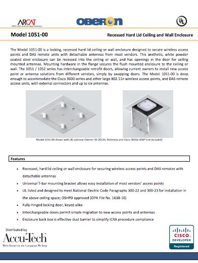 Oberon 1051-00 Spec Sheet