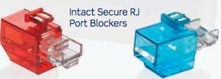 intact secure rj port blockers