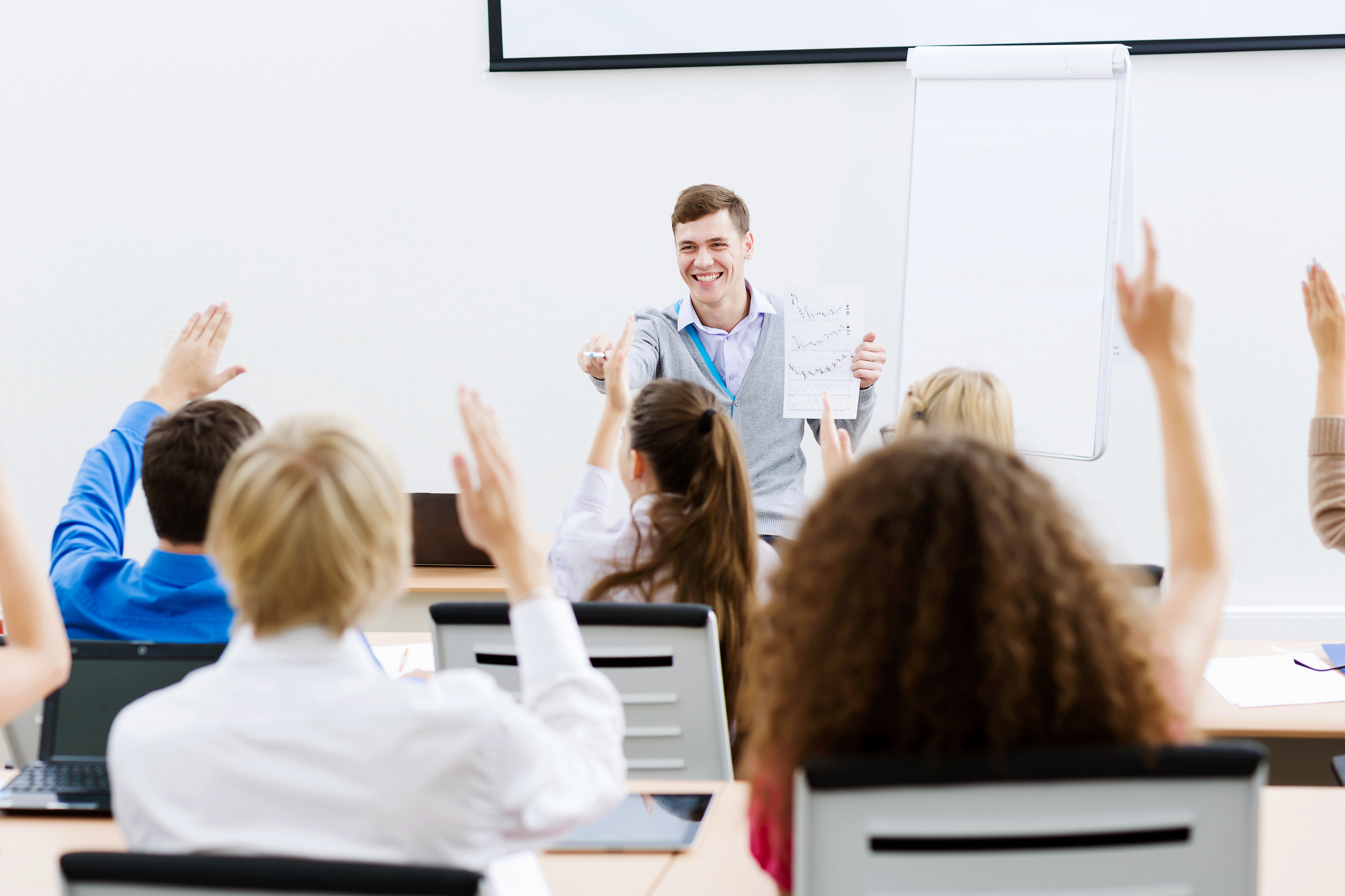 Class room with students