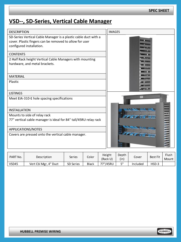 CableManagement_SpecSheet_VSD