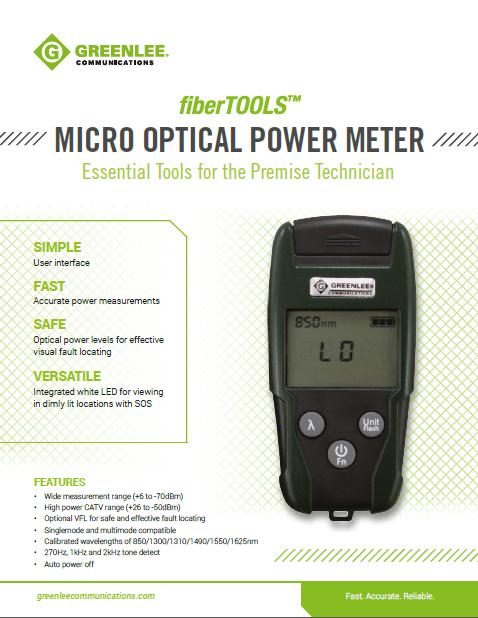 Greenlee- Micro Optical Power Meter image
