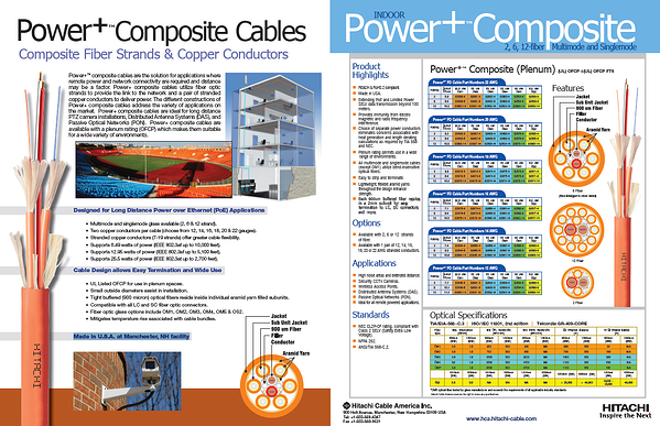 Hitachi Power+ Cables HIGHLIGHTS