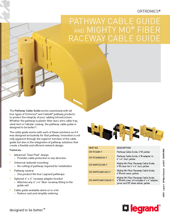 Ortronics_Pathway_Cable_Guide