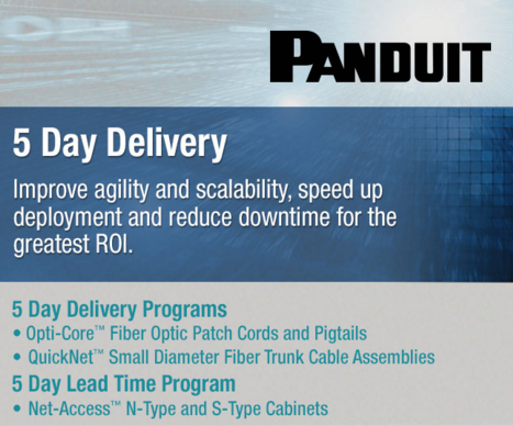 panduit 5 day delivery program