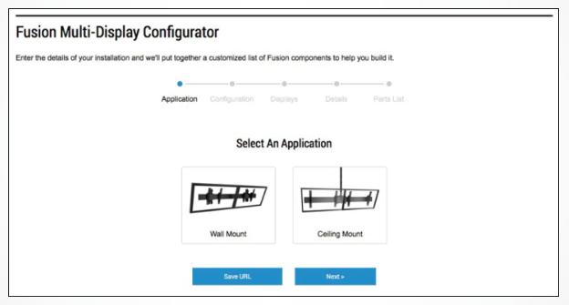 Fusion Modular Multi-Display Configurator Tool