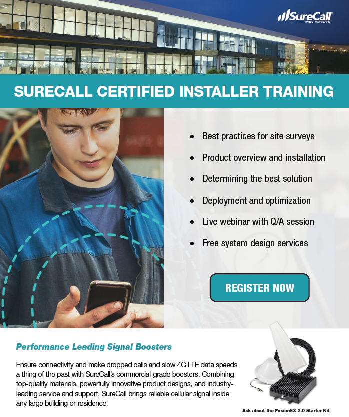 SureCall certified Installer 2019 SS