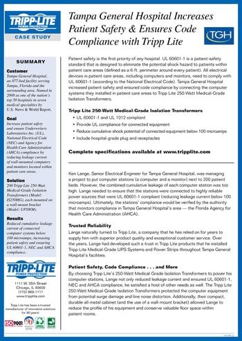 Download Tripp Light Medical-Grade Compliance Case Study