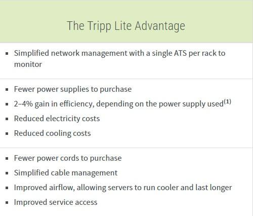 Tripp Lite advantage