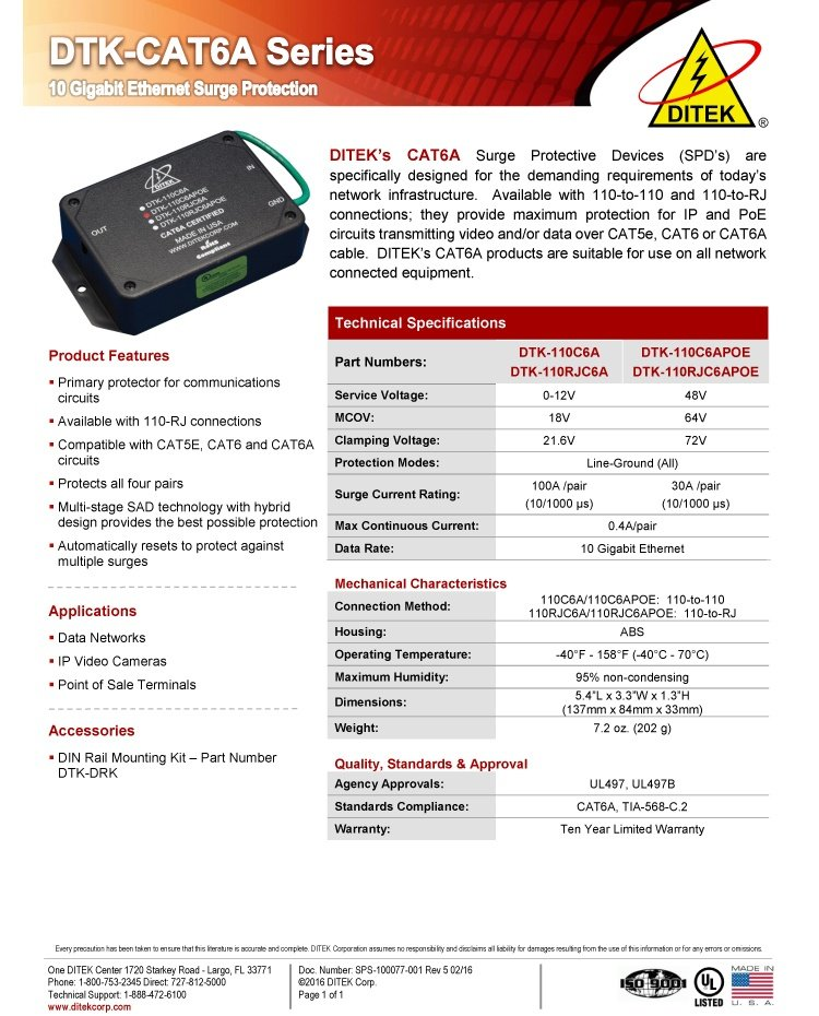 DTK-CAT6A-Series-DS